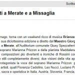 Brianza Classica: concerti a Merate e a Missaglia