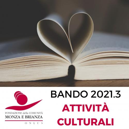 Bando 2021.3 Attività culturali