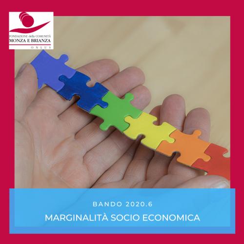 Bando 2020.6 Marginalità sociale